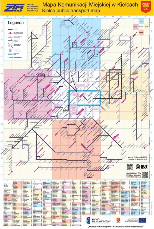Ztm Public Transport Map Michal Obiedzinski Portfolio